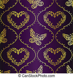 Seamles spring background in purple