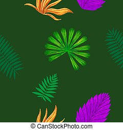 seamles tropical abstract green background