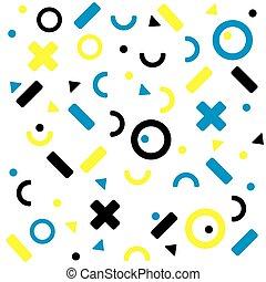 seamless, ábra, elvont, háttér., színes, geometriai, vektor, pattern.