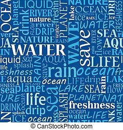 seamless, água, etiquetas, nuvem