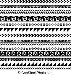 seamless, étnico, ornamento, para, su, diseño