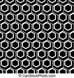 seamless, šestiúhelník, pattern.