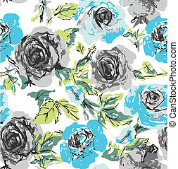 seamless, λουλούδι , τριαντάφυλλο , πρότυπο