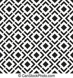 seamless, μαύρο , - , άσπρο , γεωμετρικός ακολουθώ κάποιο πρότυπο