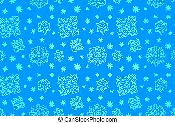 seamless, μπλε , χειμώναs , πρότυπο , με , νιφάδα