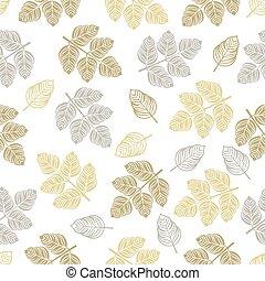 seamless, πρότυπο , με , έγχρωμος , leaves.