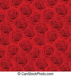 seamless, πρότυπο , με , αριστερός τριαντάφυλλο