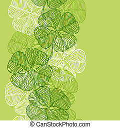 seamless, πρότυπο , με , αφαιρώ , τριφύλλι , leaves.