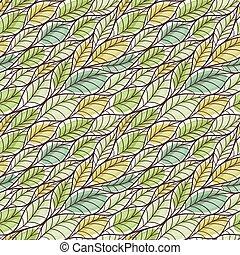 seamless, πρότυπο , με , αφαιρώ , leaves.