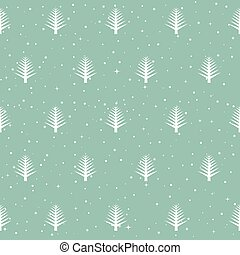 seamless, πρότυπο , με , xριστούγεννα , αγχόνη. , χειμώναs , δάσοs
