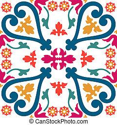 seamless, カラフルである, 装飾, タイル
