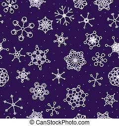 seamless, ネオン, 雪, 背景