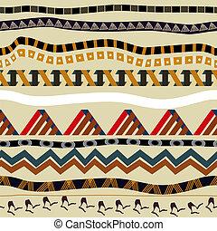seamless, パターン, ∥で∥, 要素, の, 民族, style., 種族