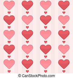 seamless, パターン, ∥で∥, 赤, 心, 上に, a, ピンク
