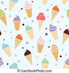 seamless, パターン, ベクトル, アイスクリーム