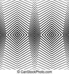 seamless., パターン, ベクトル, 黒い背景, 白, ストライプ