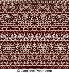 seamless, パターン, レース, かぎ針で編み物をしなさい