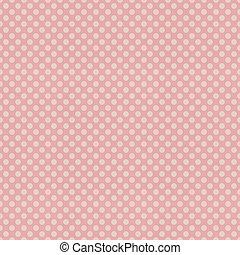 seamless, ピンク, ポルカドット, patten, 上に, textured, ペーパー