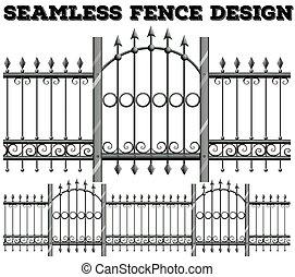seamless, メタルフェンス, デザイン