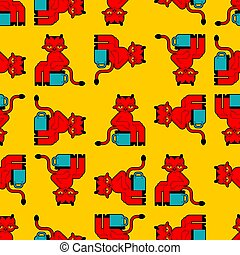 seamless., 凝り性, 小さい, 布, 手ざわり, パターン, わずかしか, 悪魔, ornament., potty, 赤, 赤ん坊, トイレ, childrens, 悪魔, バックグラウンド。