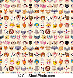 seamless, 動物顔, パターン