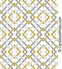 seamless, 圖案, 由于, 很多, 橫斷線, 以及, corners., 鏈子, ......的, 几何形狀