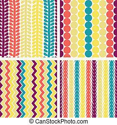 seamless, 幾何学的な パターン, レトロ