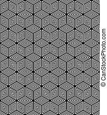 seamless, 幾何学的, texture.