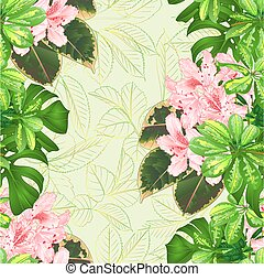 seamless, 手ざわり, 花束, ∥で∥, 熱帯の花, ライト, ピンク, ツツジ, vector.eps