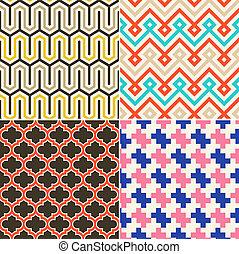seamless, 抽象的, 幾何学的な パターン