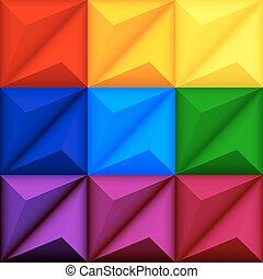 seamless, 抽象的, 幾何学的, 背景, 多彩