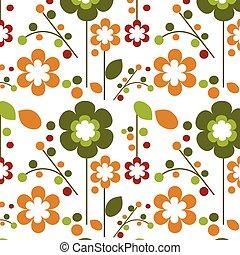 seamless, 春天, 花, 花, 樣板, 設計, -1