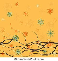 seamless, 植物, 背景, 由于, 分支, 1