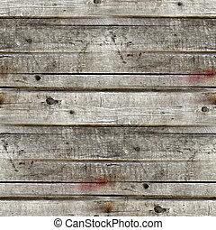 seamless, 灰色, 手ざわり, の, 古い, 木製板, 背景