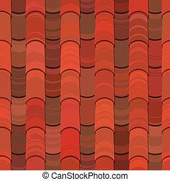 seamless, 紅色的泥土, 屋頂, 瓦片