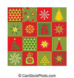 seamless, 背景, クリスマス
