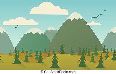 seamless, 背景, 自然