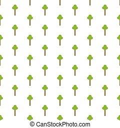 seamless, 背景, 要素, アイコン, ベクトル, 木, パターン, 緑, elements., 白, repeatable, 木