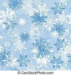 seamless, 背景, 雪片