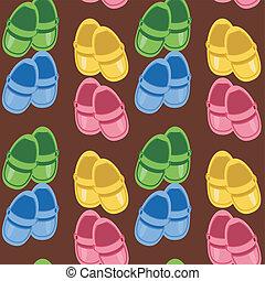seamless, 背景, 鞋子