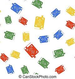 seamless, 色, 法令, 白, バックグラウンド。, スケール, パターン, ベクトル, 正義, アイコン, 隔離された, 法律書
