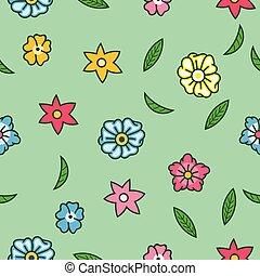 seamless, 花, これ見よがしである, パターン