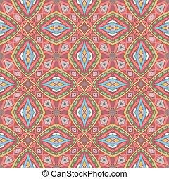 seamless, 装飾用, 抽象的, 幾何学的な パターン