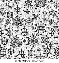 seamless, 雪片, pattern., eps, 10