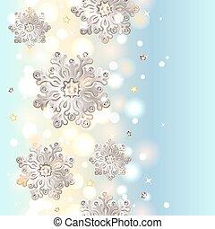 seamless, 雪花, 背景, 聖誕節