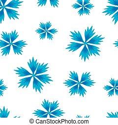 seamless, 青い背景, cornflowers