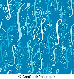 seamless, 音樂, 圖案, 由于, a, 高音譜號
