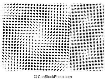seamless, 點, 圖案, (vector)
