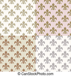 seamless, 금, fleur 22, 패턴