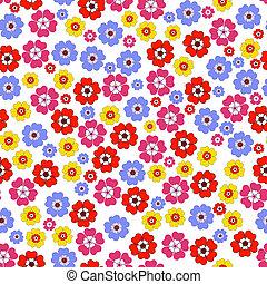 seamless, 꽃의, 생생한, 패턴